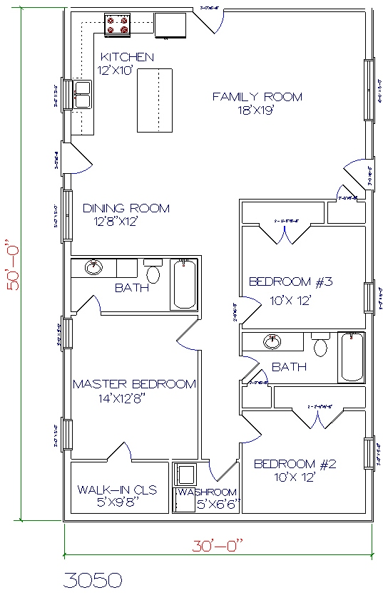 Square House Floor Plans With Lean To Kitchen Home