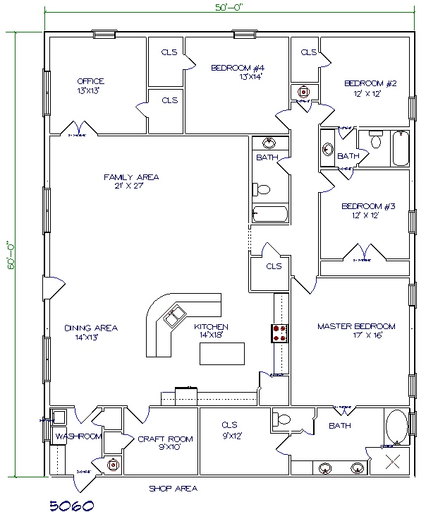 Plan drawing free pole barn plans blueprints for Metal barn with living quarters floor plans